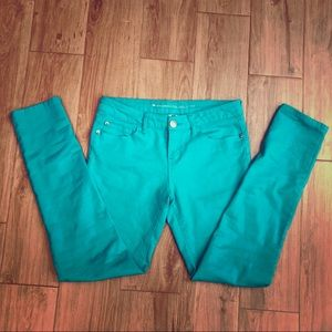Girls Size 16 Celebrity Pink Turquoise Jeggings 16